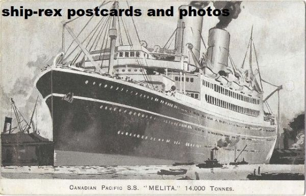 MELITA (Canadian Pacific) postcard